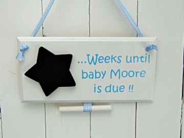 Baby Due Chalkboard Sign